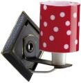 Wandlampe mit Metallwandhalter und Kunststoffschirm rot