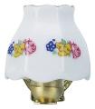 Wandlampe Porzellanschirm mit Borte H35mm (12316)