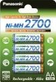 Panasonic Mignon Akku 2700 mA Ni-MH BK-3HGAE 4er Blister