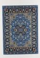 Teppich groß blau