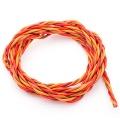 Premium Servo Litze 3x0,34qmm Braun-Rot-Orange 2m verdr.