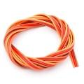 Premium Servo Litze 3x0,08qmm, Braun-Rot-Orange 5m